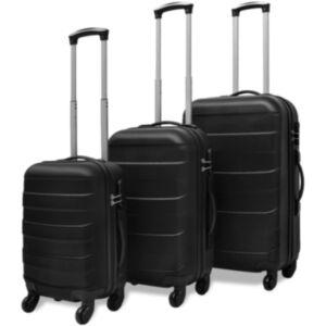 Pood24i kolmeosaline kõvakattega kohvrite komplekt must