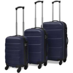 Pood24i kolmeosaline kõvakattega kohvrite komplekt sinine