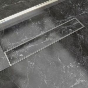 Pood24i lineaarne duši äravoolusüsteem 630 x 140 mm roostevaba teras