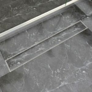 Pood24i lineaarne duši äravoolusüsteem 830 x 140 mm roostevaba teras