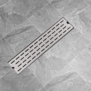 Pood24i lineaarne duši äravoolusüsteem 530 x 140 mm roostevaba teras