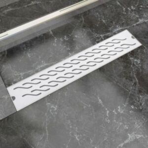 Pood24i lineaarne duši äravoolusüsteem, laineline, 630 x 140 mm roostevaba teras