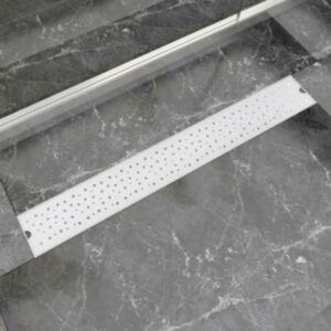Pood24i lineaarne duši mulliline äravoolusüsteem 830 x 140 mm roostevaba teras