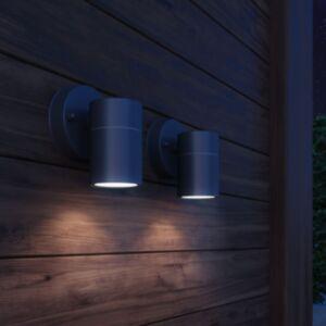 Pood24 õue LED-seinavalgustid 2 tk, roostevaba teras, alla suunatud
