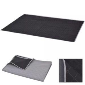 Pood24 piknikulina hall ja must 100 x 150 cm