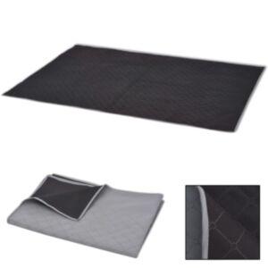 Pood24 piknikulina hall ja must 150 x 200 cm