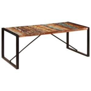 Pood24 söögilaud, 200 x 100 x 75 cm, toekas taaskasutatud puit