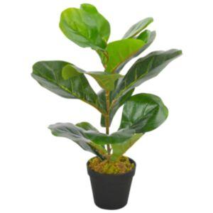 Pood24 kunsttaim lüüra-viigipuu potiga, roheline, 45 cm