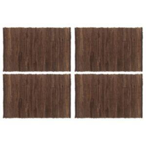 Pood24 lauamatid 4 tk Chindi, tavaline, pruun 30 x 45 cm puuvill