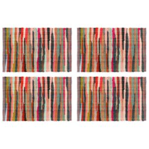 Pood24 lauamatid 4 tk Chindi tavaline mitmevärviline 30x45 cm, puuvill
