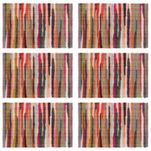 Pood24 lauamatid 6 tk Chindi tavaline mitmevärviline 30x45 cm, puuvill