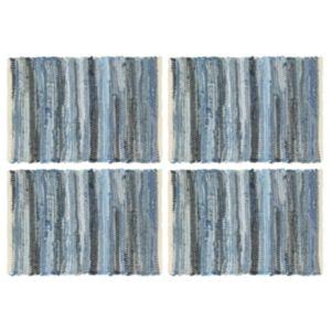 Pood24 lauamatid 4 tk, Chindi, teksasinine, 30 x 45 cm, puuvill