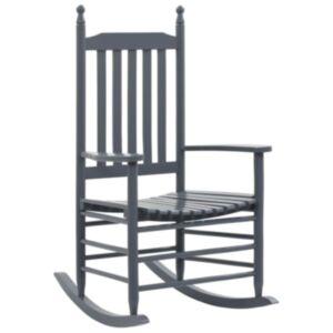 Pood24 nõgusa istmega kiiktool, hall, puidust