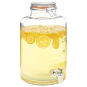 Pood24 veekann XXL, kraaniga, läbipaistev, 8 l, klaas