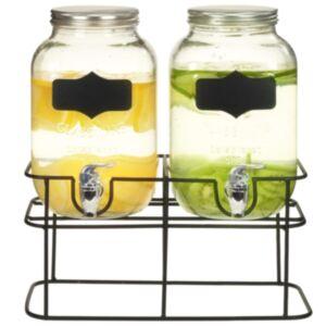 Pood24 joogiserveerimisnõu 2 tk alusega 2 x 4 l klaas