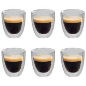 Pood24 topelt termoklaas espresso jaoks, 6 tk, 80 ml