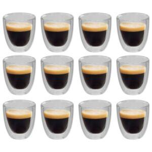 Pood24 topelt termoklaas espresso jaoks, 12 tk, 80 ml