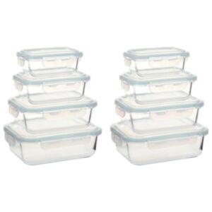 Pood24 klaasist toidu hoiukarbid, 8 tk