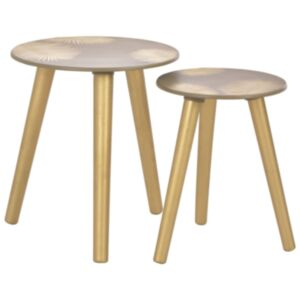 Pood24 üksteise alla mahtuvad lauad 2 tk, kuldne 40x45 cm/30x40 cm MDF