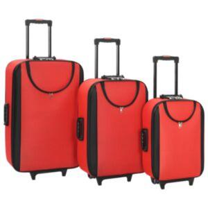 Pood24 pehmed kohvrid, 3 tk, punane, oxford-kangas