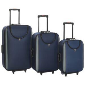Pood24 pehmed kohvrid, 3 tk, tumesinine, oxford-kangas