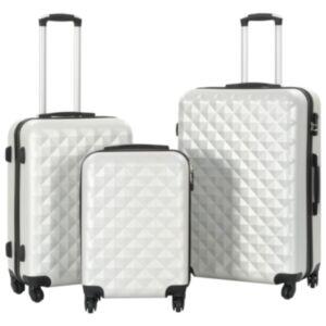 Pood24 kõvakattega kohvrid 3 tk, särav hõbedane, ABS