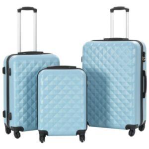 Pood24 kõvakattega kohver 3 tk sinine ABS