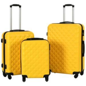 Pood24 kõvakattega kohver 3 tk kollane ABS