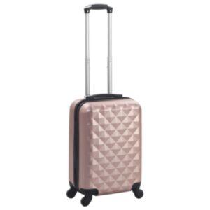 Pood24 kõvakattega kohver roosakaskuldne ABS