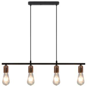Pood24 laelamp, must ja vaskne, 80 cm E27