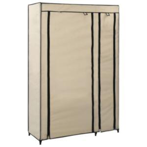 Pood24 kokkupandav riidekapp, kreemjasvalge, 110 x 45 x 175 cm, kangas