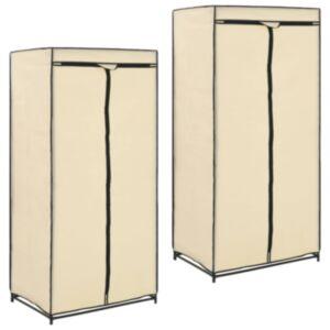 Pood24 riidekapid 2 tk, kreemjasvalge, 75 x 50 x 160 cm