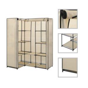 Pood24 nurgakapp, kreemjasvalge, 130 x 87 x 169 cm