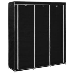 Pood24 sektsioonide ja torudega kapp, must, 150 x 45 x 175 cm, kangast