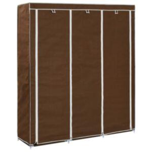 Pood24 sektsioonide ja torudega kapp, pruun, 150 x 45 x 175 cm, kangast