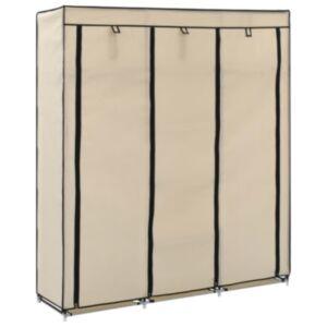 Pood24 sektsioonide ja torudega kapp, kreemjas, 150x45x175 cm, kangast