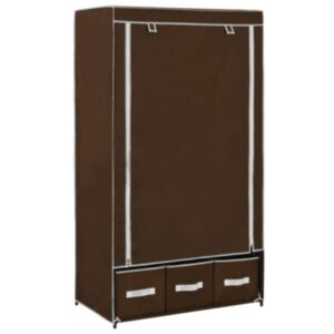 Pood24 garderoob, pruun, 87 x 49 x 159 cm, kangas