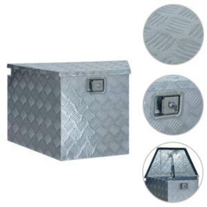 Pood24 alumiiniumist kast 737/381 x 410 x 460 mm, hõbedane