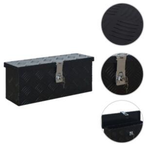 Pood24 alumiiniumist kast 485 x 140 x 200 mm, must