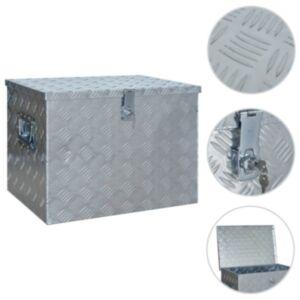 Pood24 alumiiniumist kast 610 x 430 x 455 mm, hõbedane