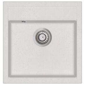 Pood24 ühepoolne köögivalamu, graniit, valge
