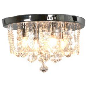 Pood24 laelamp kristallhelmestega hõbedane ümmargune, 4 x G9 pirni