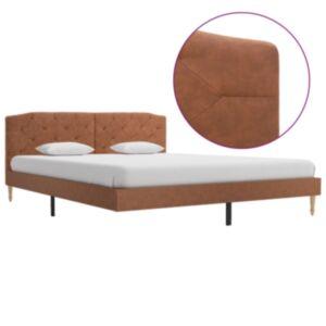Pood24 voodiraam, pruun kangas, 160 x 200 cm