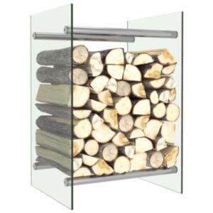 Pood24 küttepuude rest, läbipaistev, 40 x 35 x 60 cm, klaas