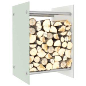 Pood24 küttepuude rest, valge, 40 x 35 x 60 cm, klaas