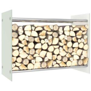 Pood24 küttepuude rest, valge, 80 x 35 x 60 cm, klaas