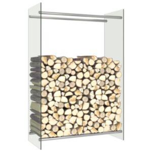 Pood24 küttepuude rest, läbipaistev, 80 x 35 x 120 cm, klaas