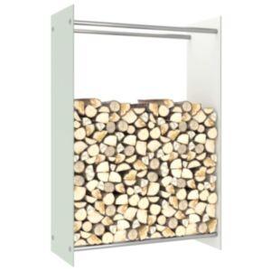 Pood24 küttepuude rest, valge, 80 x 35 x 120 cm, klaas