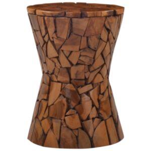 Pood24 mosaiigimustriga tool, pruun, toekas tiikpuu