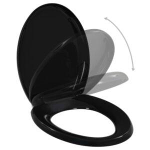 Pood24 vaikselt sulguv prill-laud, kiirvabastusega, must